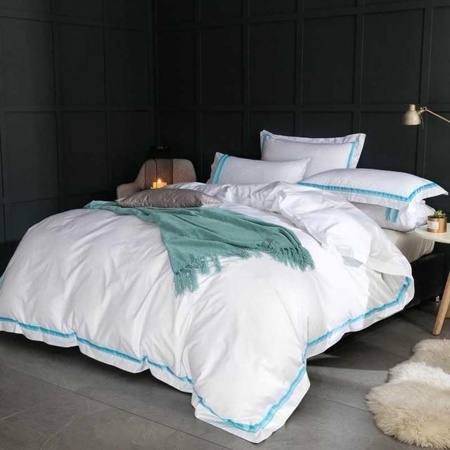 Best 5 Star Hotel Luxury White 100 Egyptian Cotton Bedding 640 x 480