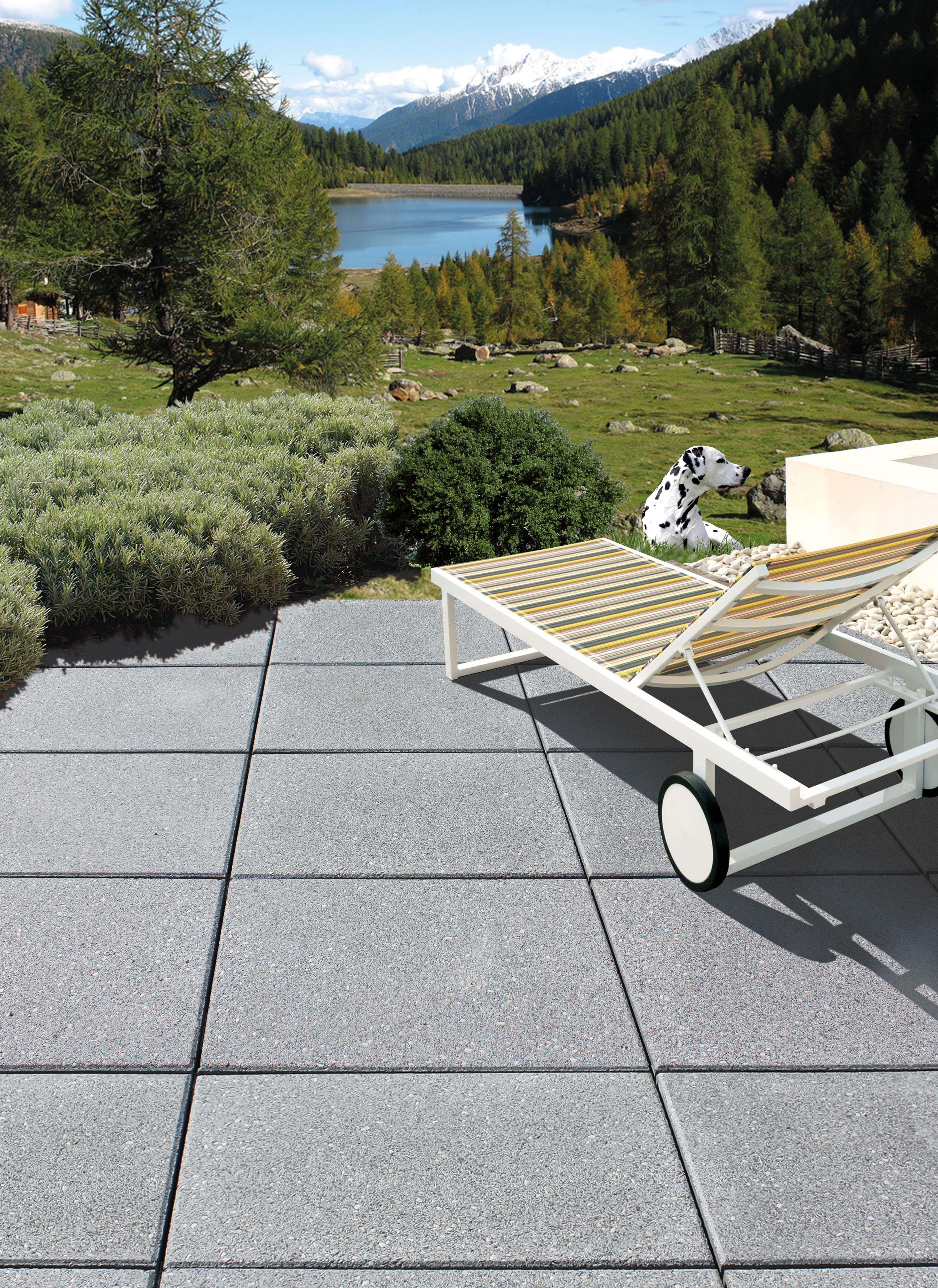 Hausler Landhaus Steingrau Im Dielenformat 60 X 40 Cm Terrasse
