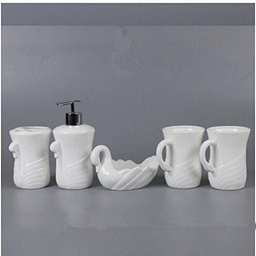 Ceramic Bathroom Set Toiletries Kit With Teeth Mug Wash C