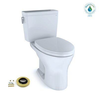 Toto Drake Dual Flush Elongated Two Piece Toilet With Bidet Seat Wax Ring And Toilet Mounting Bolts Bidet Seat Bidet Toilet