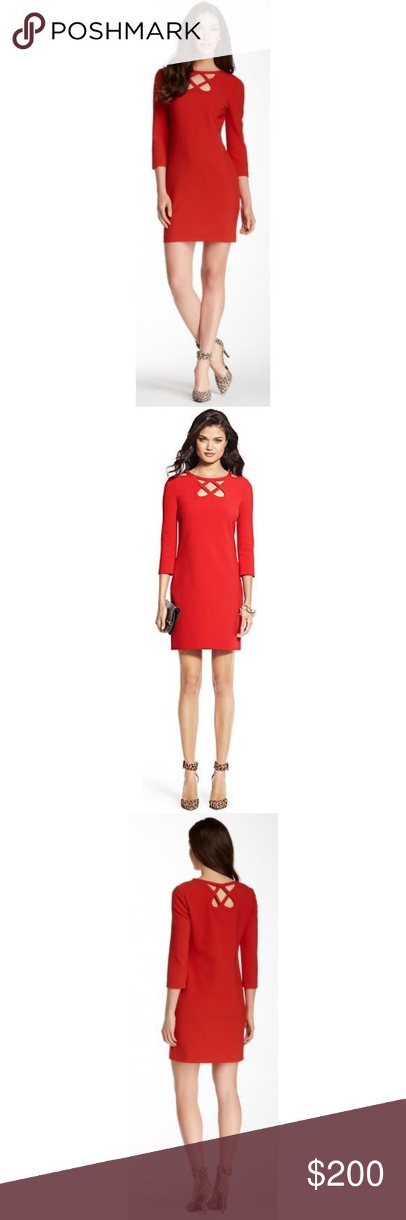 Diane von furstenberg red carmen dress nwt my posh picks