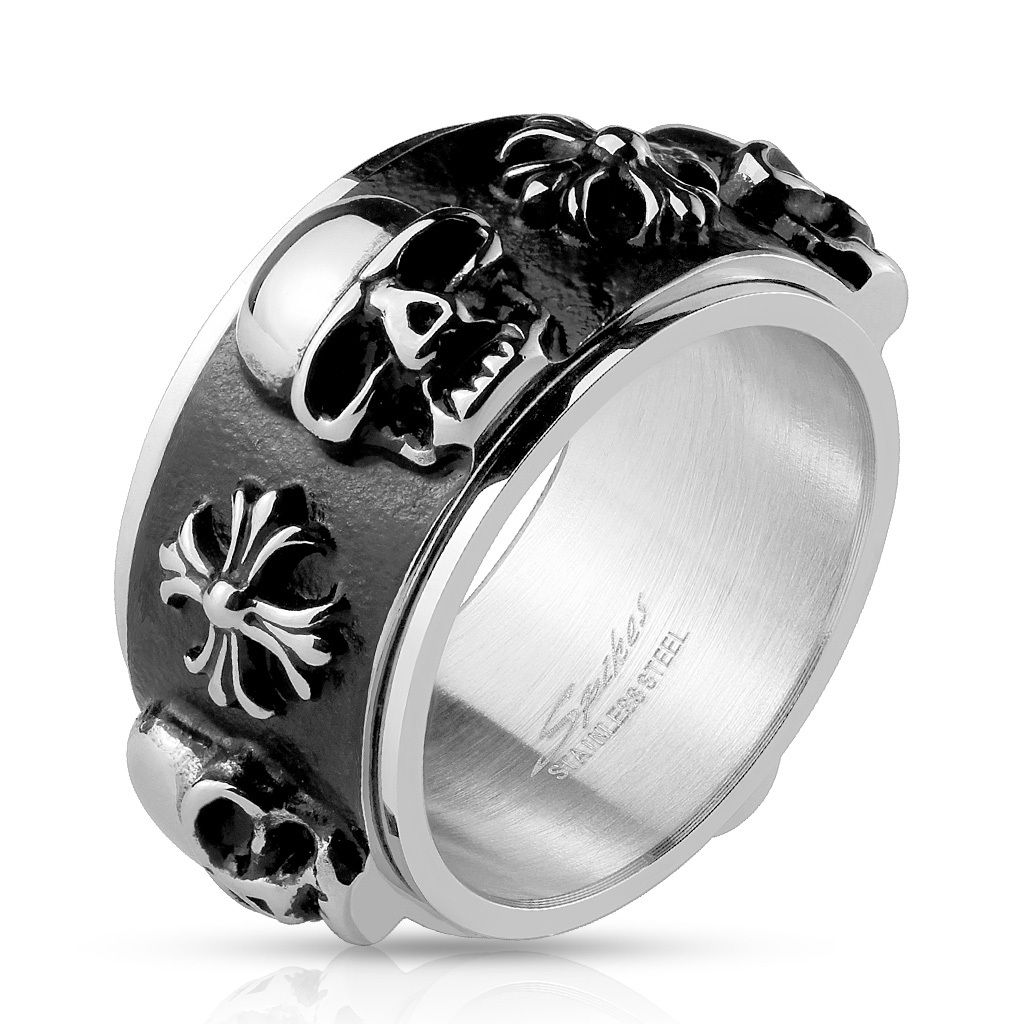 Personalized Skull and Celtic Crosses Stainless Steel