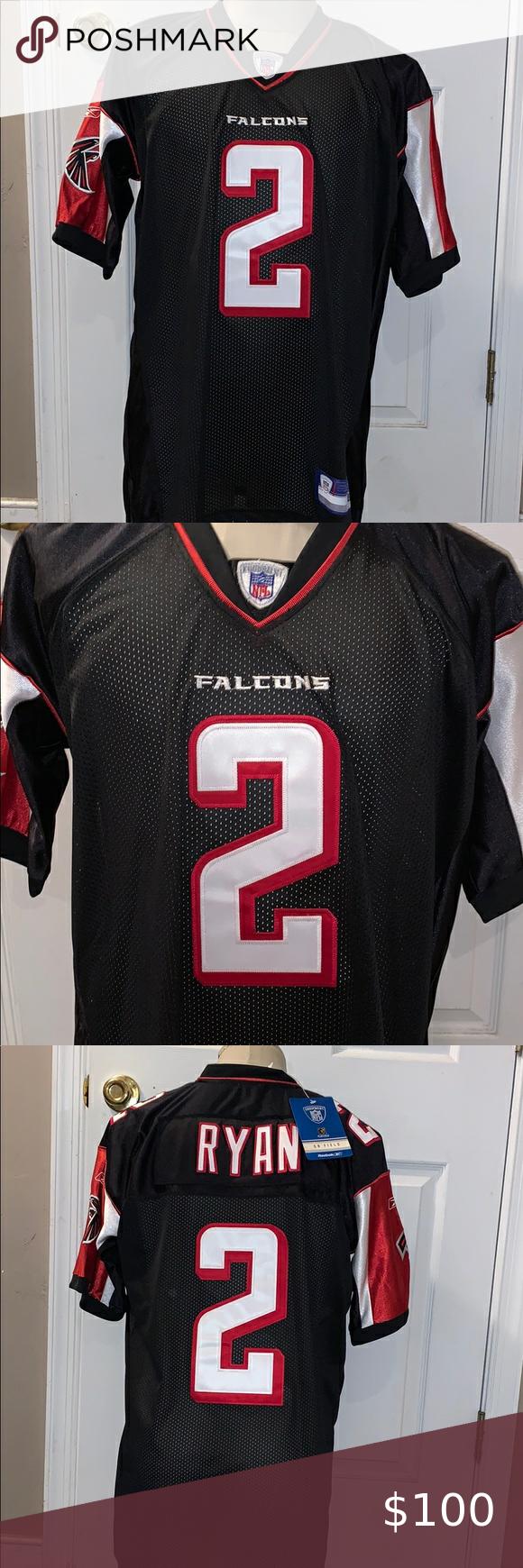 Vintage Nfl Atl Falcons Matt Ryan Jersey In 2020 Nfl Shirts Nfl Vintage