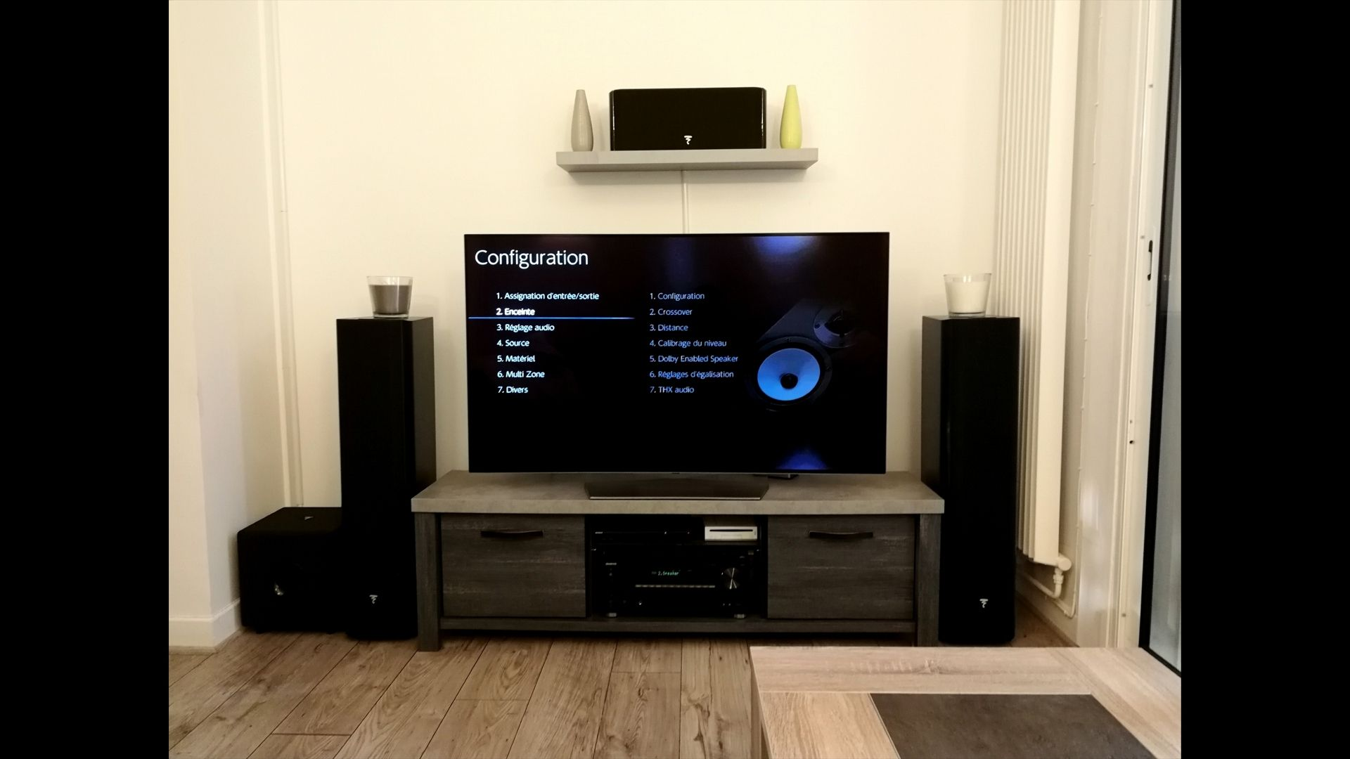 installation home cinema