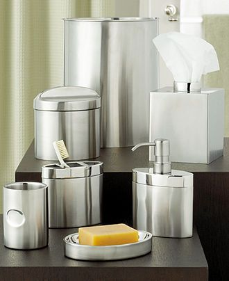 Hotel Collection Executive Stainless Bath Accessories Collection - Hotel collection bathroom accessories for bathroom decor ideas