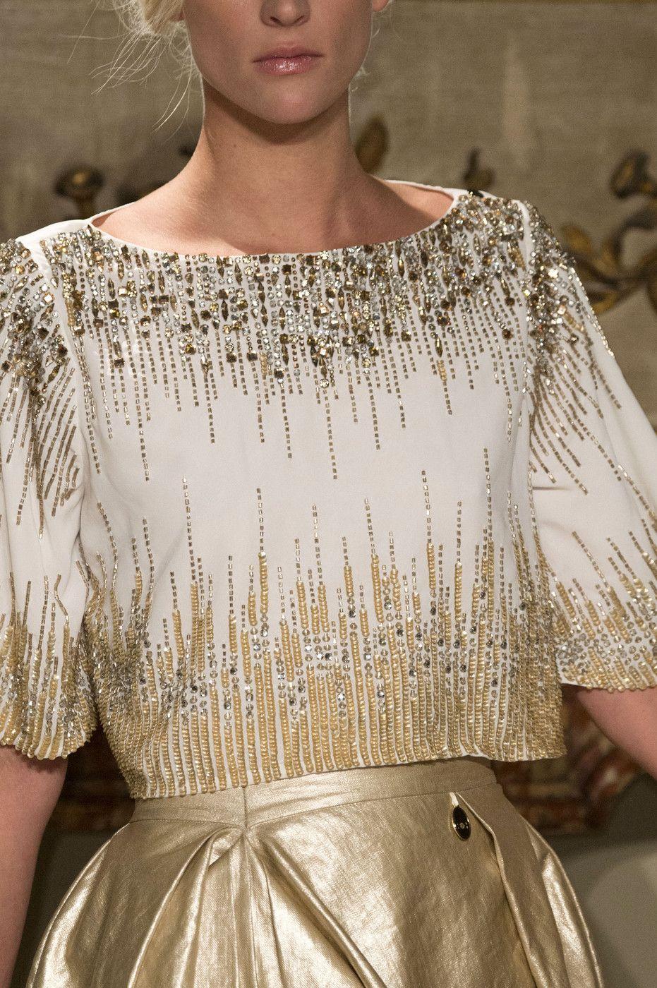 fashionsprose:  Details at Elisabetta Franchi RTW S/S 2015  .