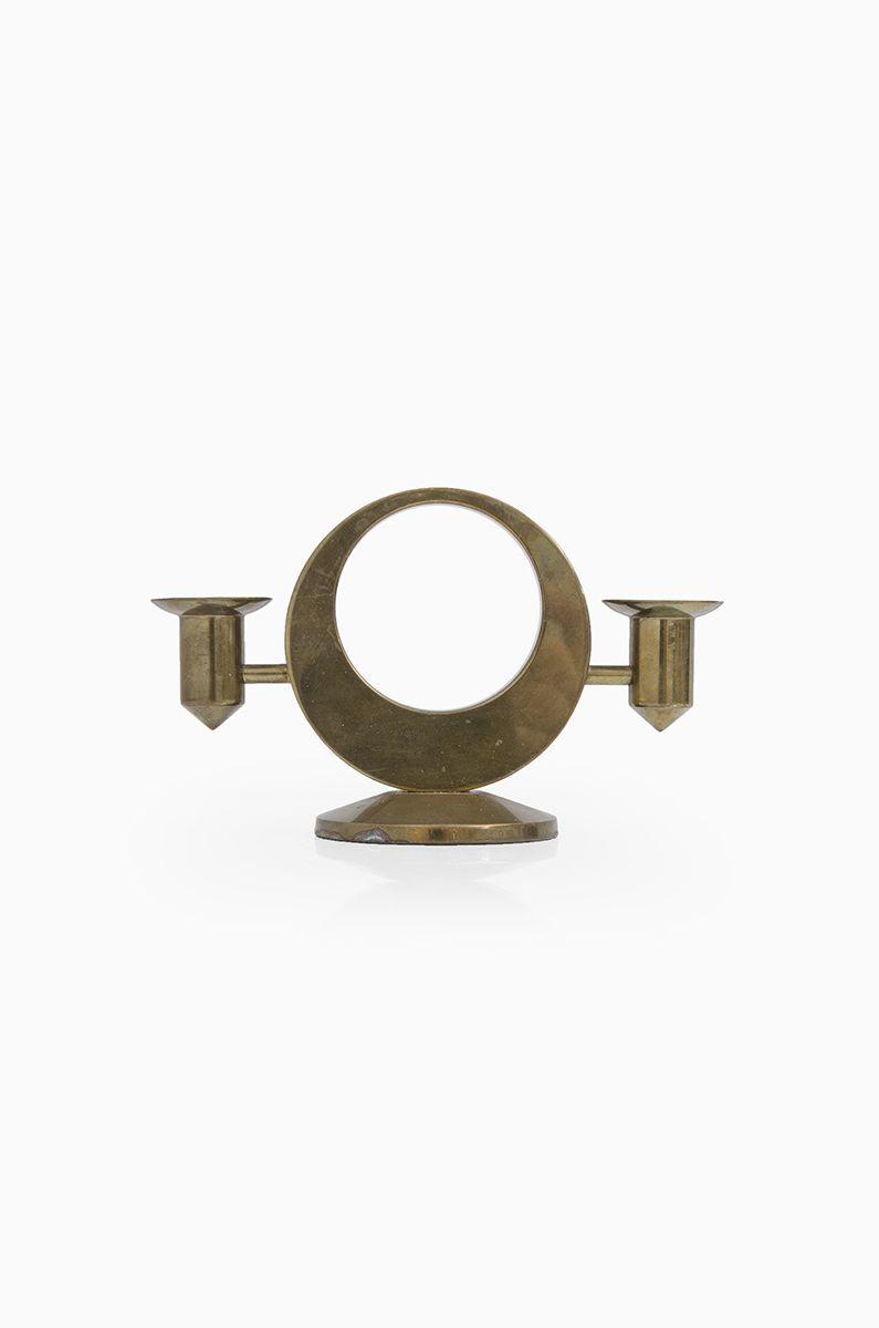 Arthur pe scandinavian mid century brass candelstick produced by