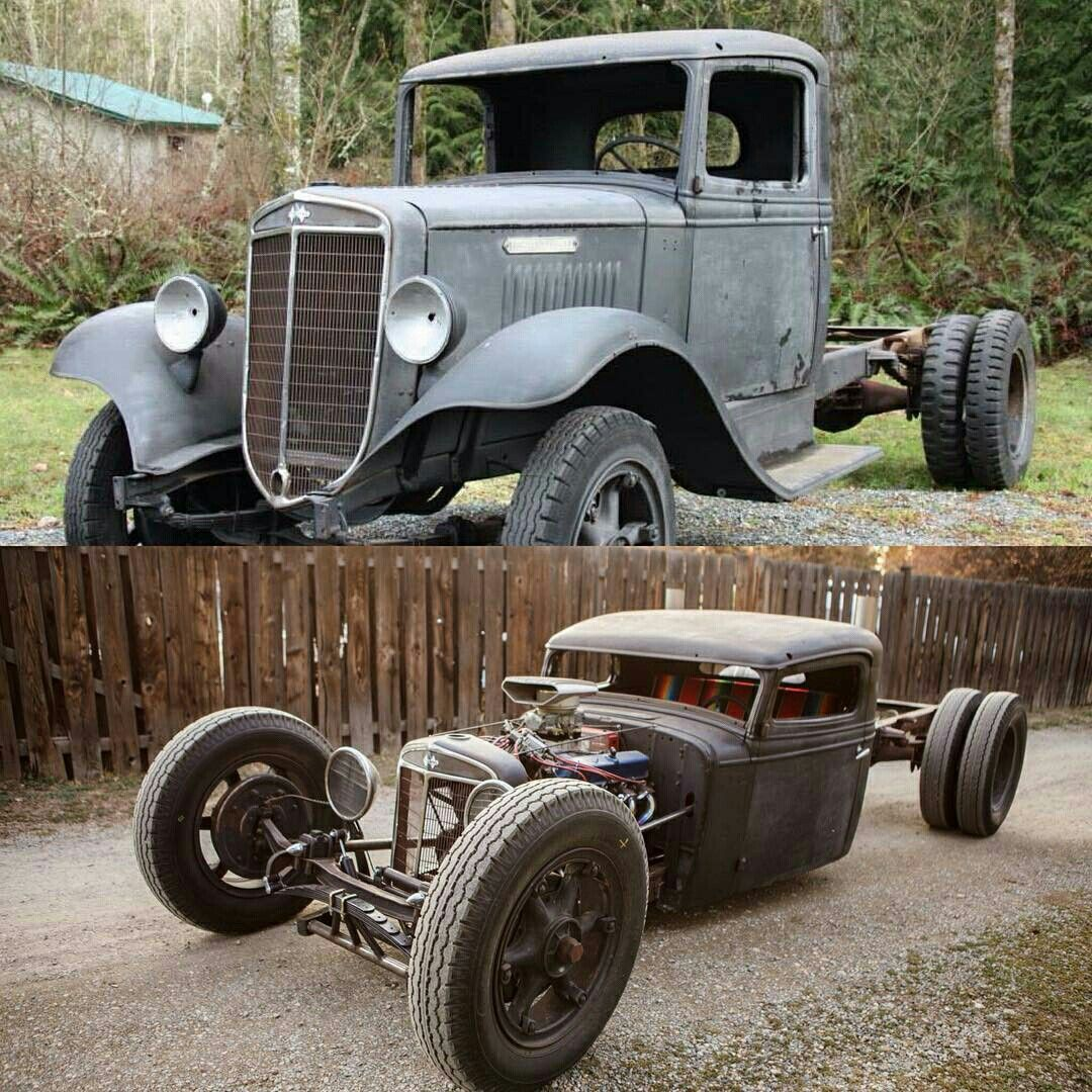 Mack Truck Rod Before And After: Sweet Chevy Rat Before And After Shots