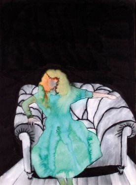 "Saatchi Online Artist Danilo Santinelli; Painting, ""Girl on the armchair"" #art"
