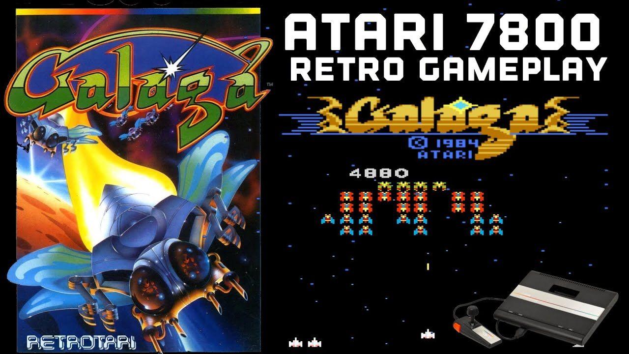 Atari 7800 Gameplay: GALAGA (1987) - YouTube | fun games