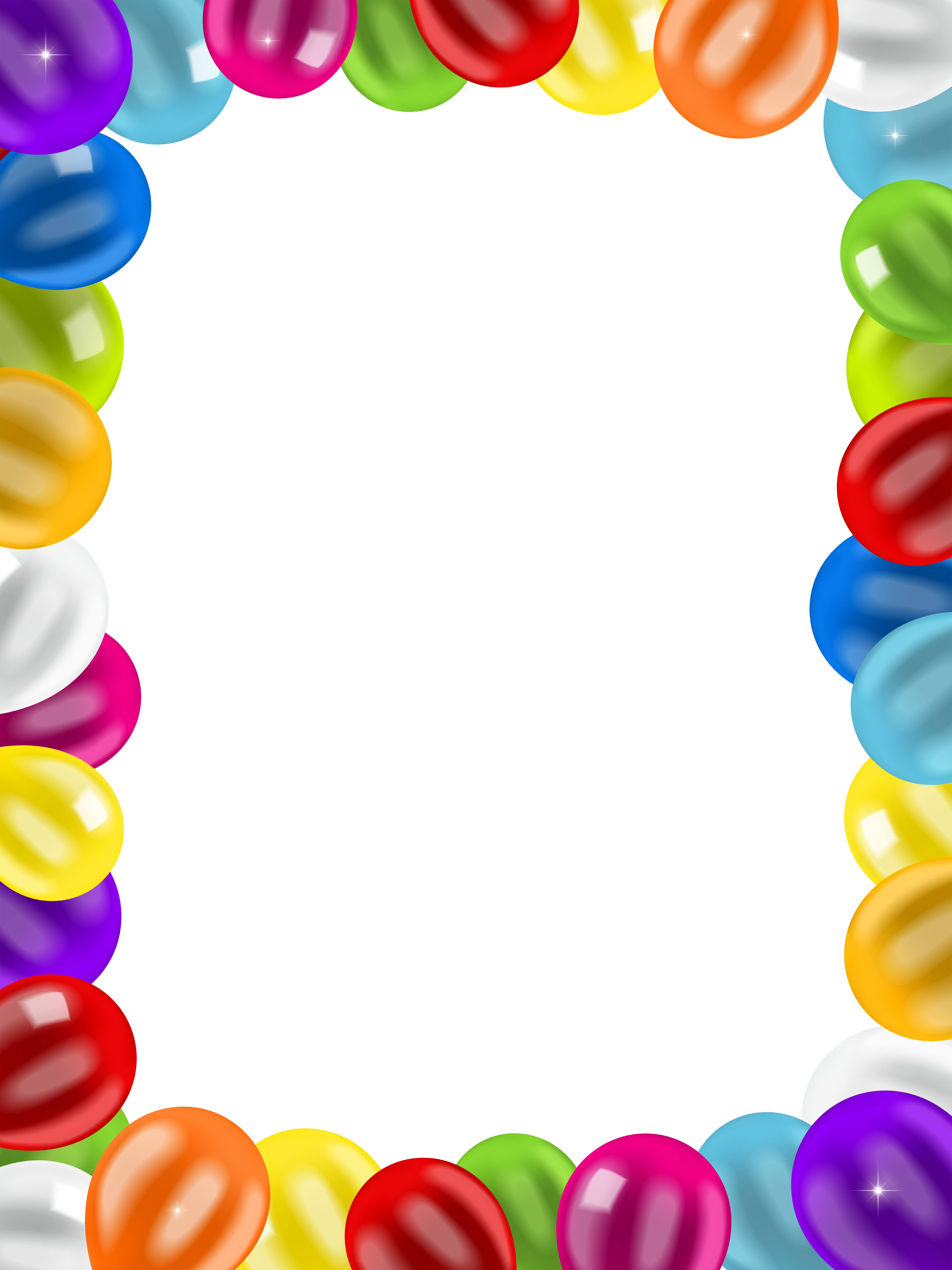 Balloons Border Frame Png Clip Art Image Gallery Yopriceville High Quality Images And Transparent Png Fre Birthday Balloons Clipart Free Clip Art Balloons