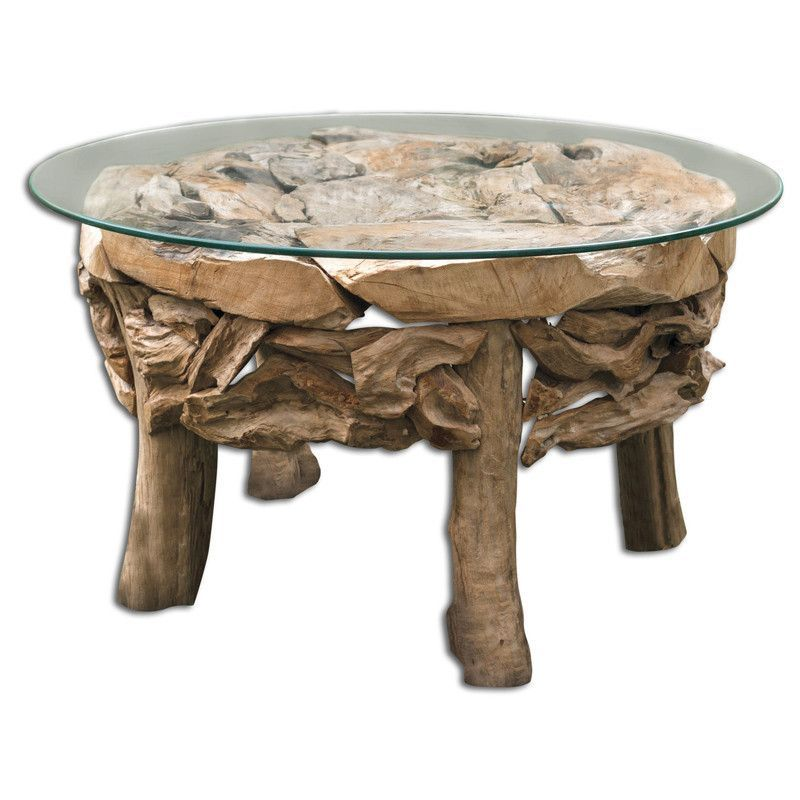 Uttermost 25619 Teak Root Round Coffee Table