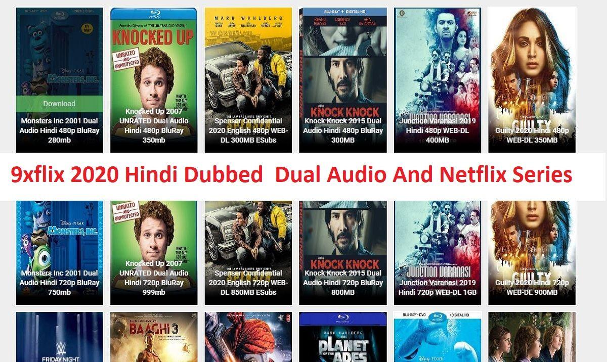 If 9xflix 2020 hindi dubbed dual audio and netflix series