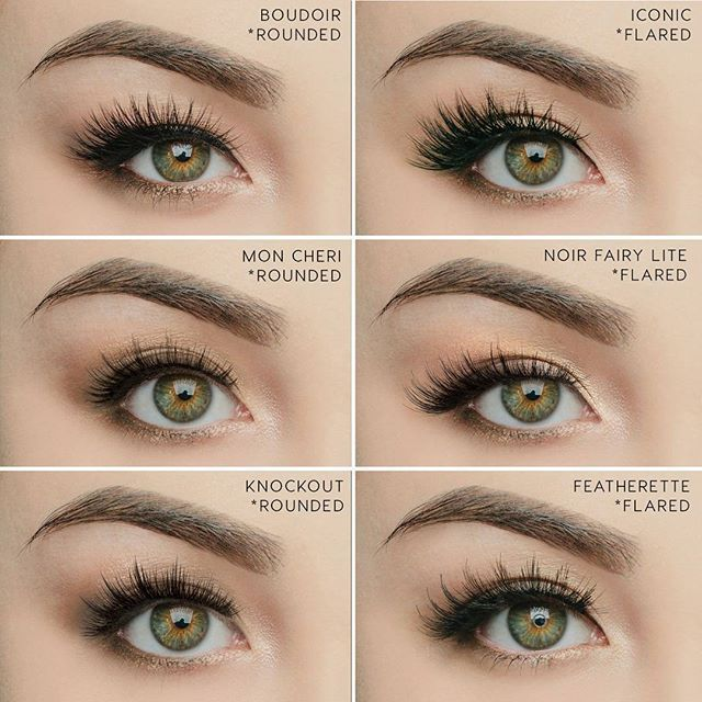 It's simple to change the shape of your eyes, all with the lashes that you wear. ✨ Here's an example of our Rounded lashes vs. our Flared lashes! To open up the eyes more, go with a rounded lash, for a more sultry, cat eye look to elongate your eyes, go with a flared lash! #houseoflashes #lashes #lashgamestrong #lashfocus #motd #makeuplooks #boudoirlashes #iconiclashes #moncherilashes #noirfairylitelashes #knockoutlashes #featherettelashes