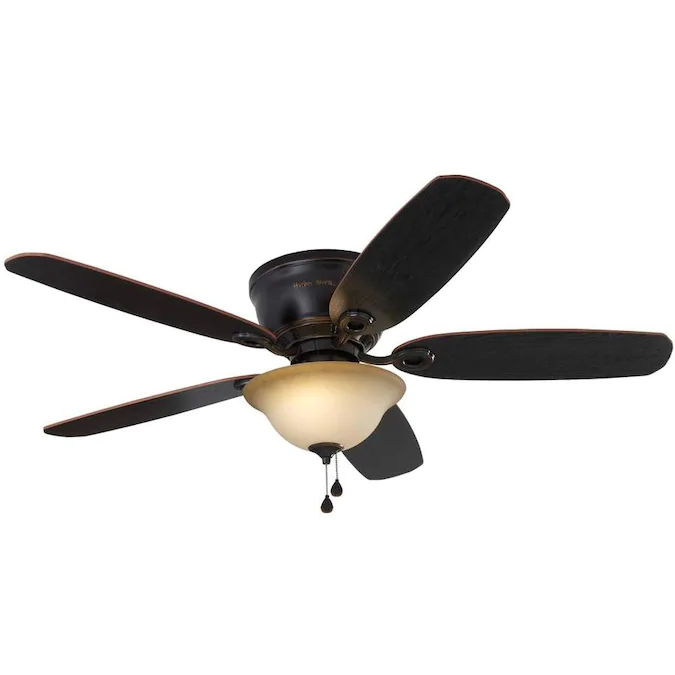 Harbor Breeze Lake Canton 52 In Oil Rubbed Bronze Led Indoor Flush Mount Ceiling Fan With Light Kit In 2020 Flush Mount Ceiling Fan Ceiling Fan With Light Ceiling Fan