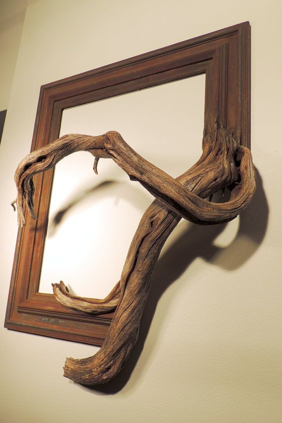 Rusty Vintage Wood Frame With Grafted Manzanita Branch