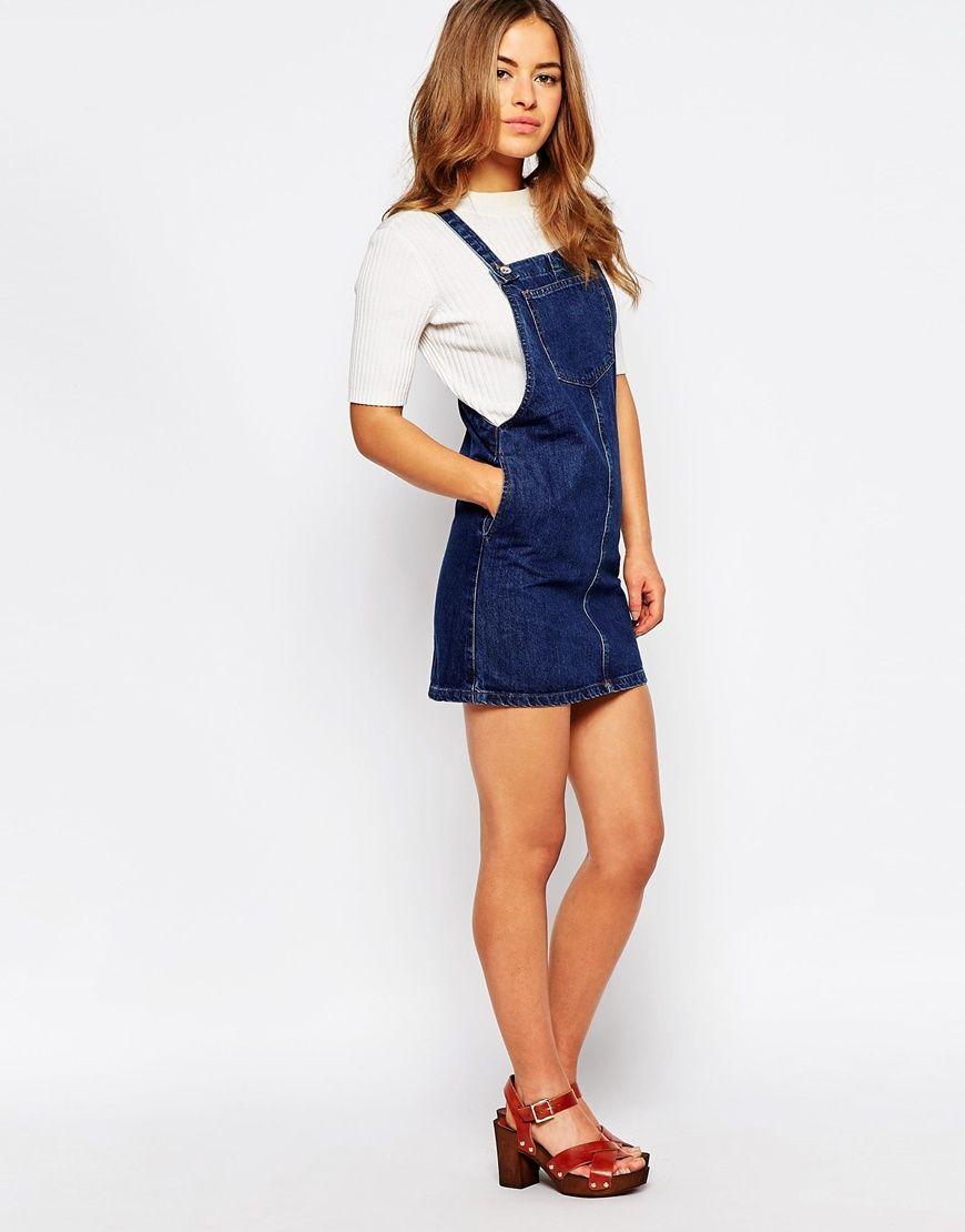 Image of new look petite denim pinny fashion pinterest