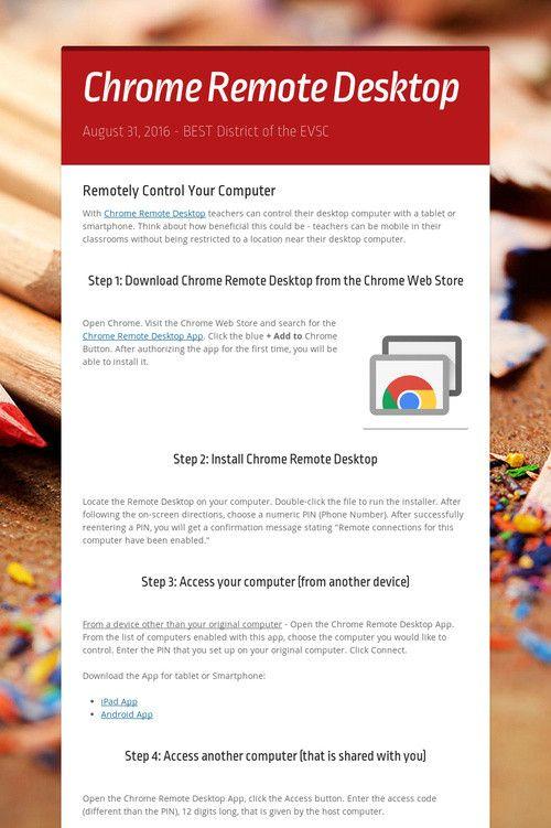 34++ Chrome remote desktop host installer info