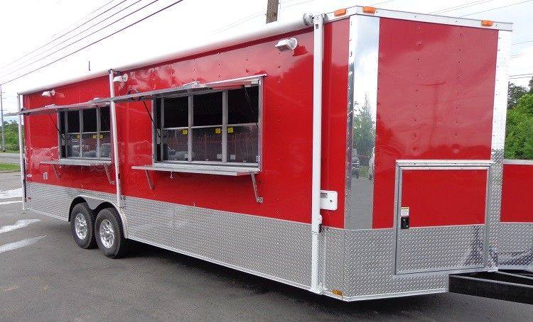 Concession Trailer 8.5'x24' Red Food Catering Vending