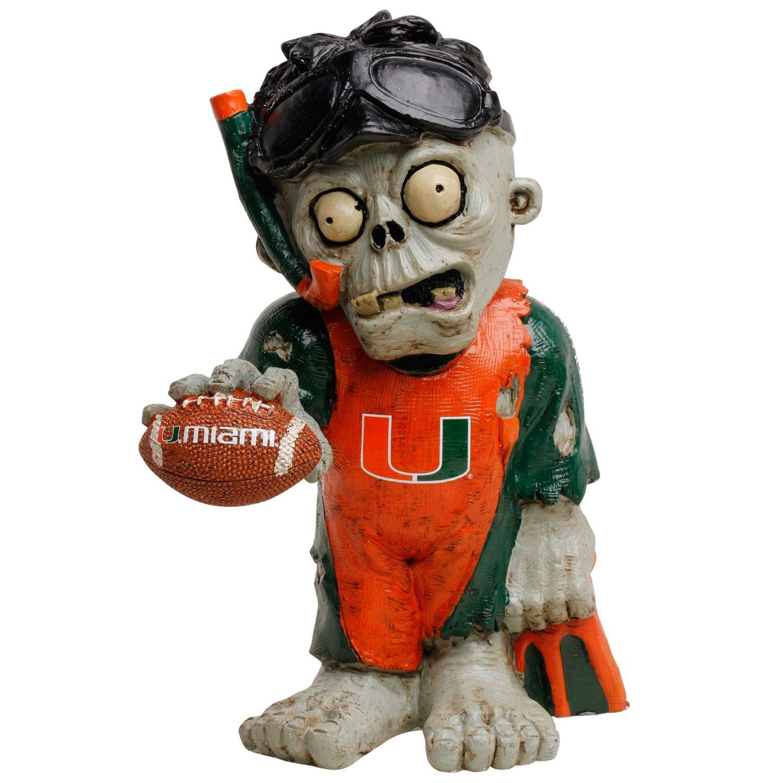 Miami Hurricanes Thematic Zombie Figurine Gnome Huracanes De Miami