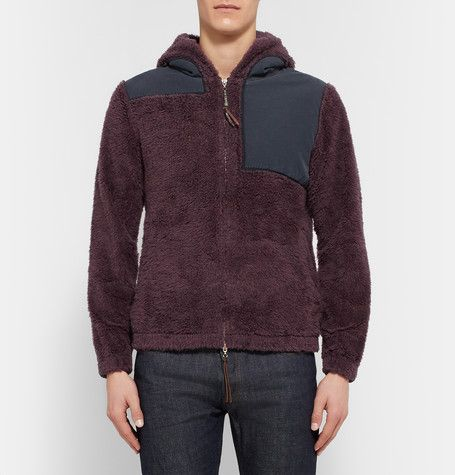 6ab2f29ab Remi Relief Cotton-Panelled Wool-Fleece Hoodie | AW15 | Fleece ...