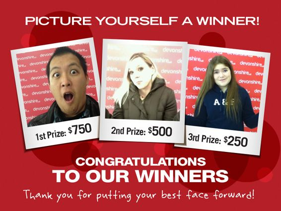 Congrats to our #winners of the Picture Yourself a Winner Contest!