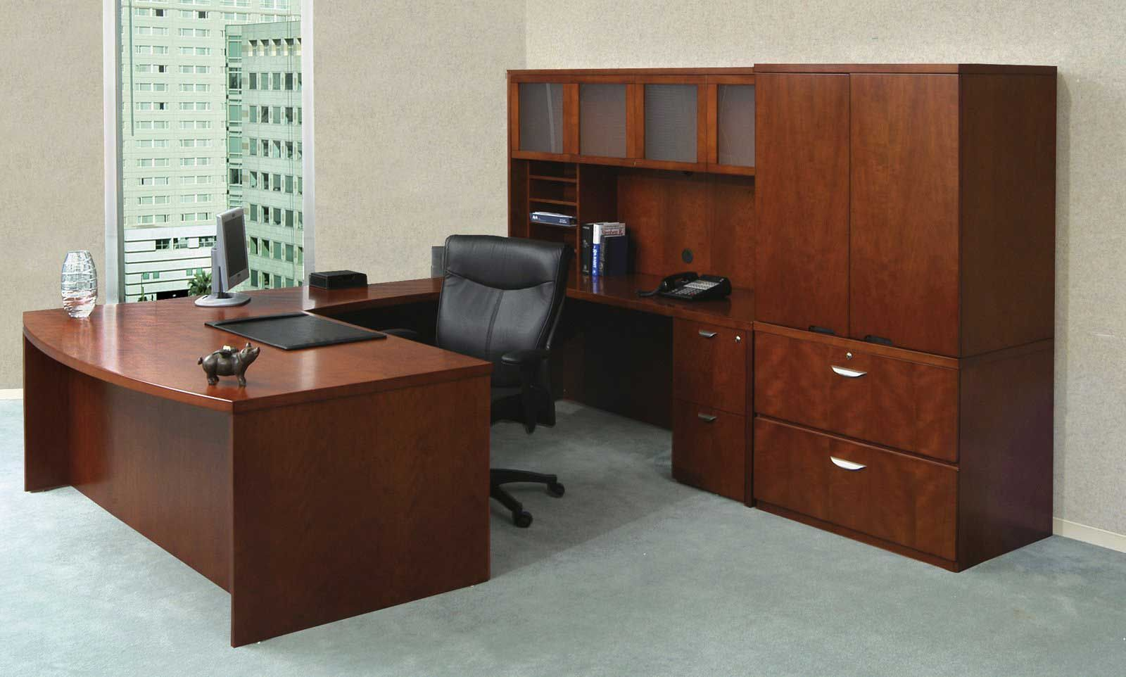 Gunlocke Executive U Shaped Desk With Images Office Furniture Layout Office Furniture Sale Cheap Office Furniture