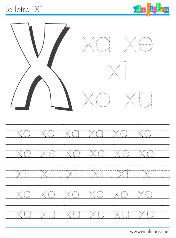 Descarga esta hoja de trabajo de las sílabas con X. Fichas y ...
