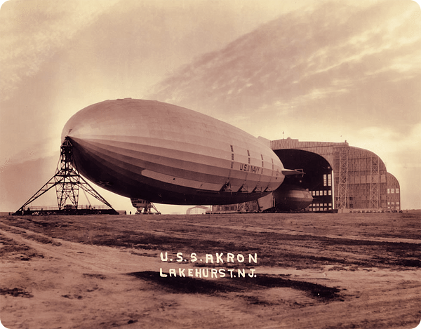 USS Akron; Lakehurst, NJ from Hall of Giants ~ BFD