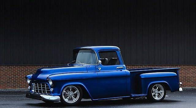 1956 Chevrolet Half Ton Pickup Show Truck Custom Pearl Blue With