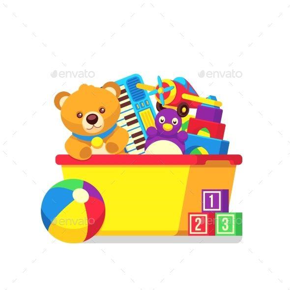 Kids Toys In Box Kids Toy Boxes Kids Toys Clip Art