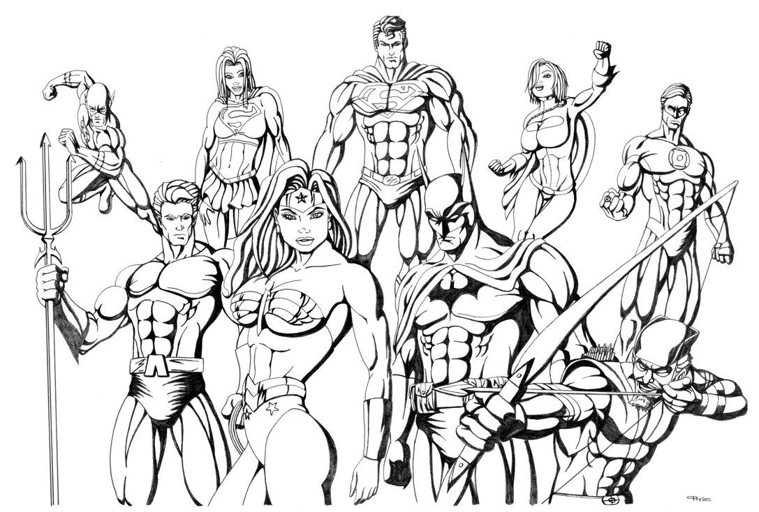 Jla 1 Complete By Eso2001 On Deviantart Sketches Coloring Pages Drawings