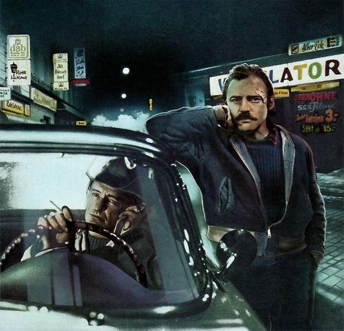 "Bruno Ganz, Dennis Hopper in Wim Wenders ""The American Friend"""