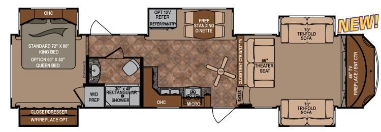 Travel trailers and fifth wheels floorplans infinity - Infinity fifth wheel front living room ...