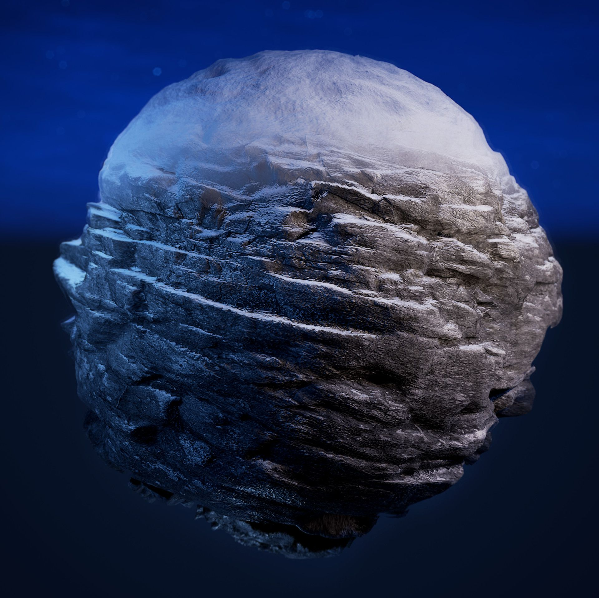 Artstation Ue4 Dynamic Snow And Rock Material Photogrammetry