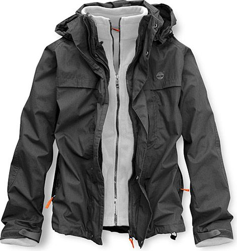 timberland mens jacket black