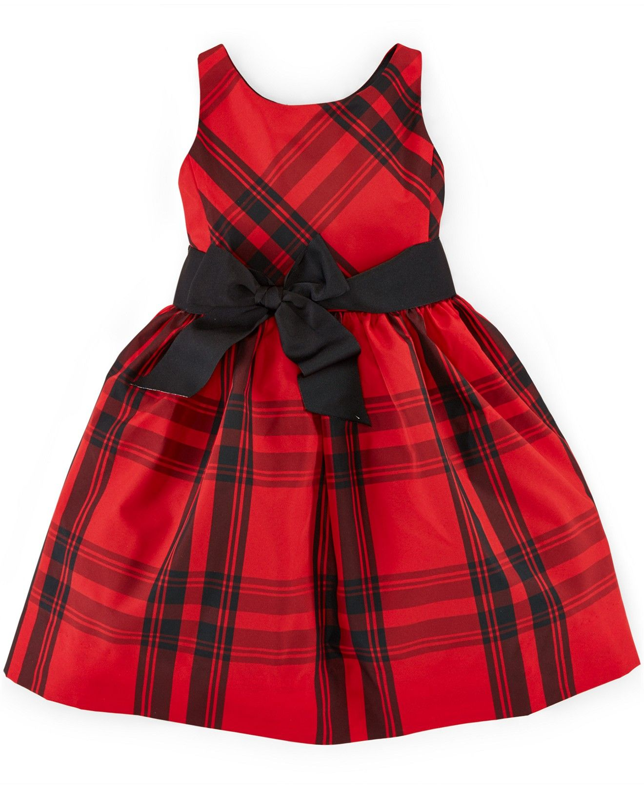 98b598380 Ralph Lauren Little Girls' Plaid Fit-And-Flare Dress - Dresses - Kids & Baby  - Macy's