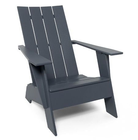 Loll 4 Slat Adirondack Outdoor Plastic Chairs Outdoor Chairs