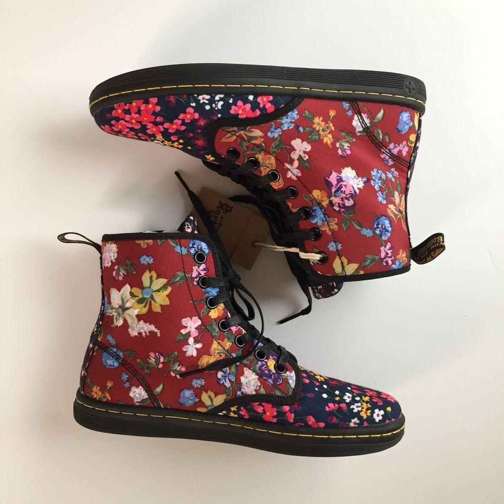Dr.Martens Shoreditch floral canvas boots