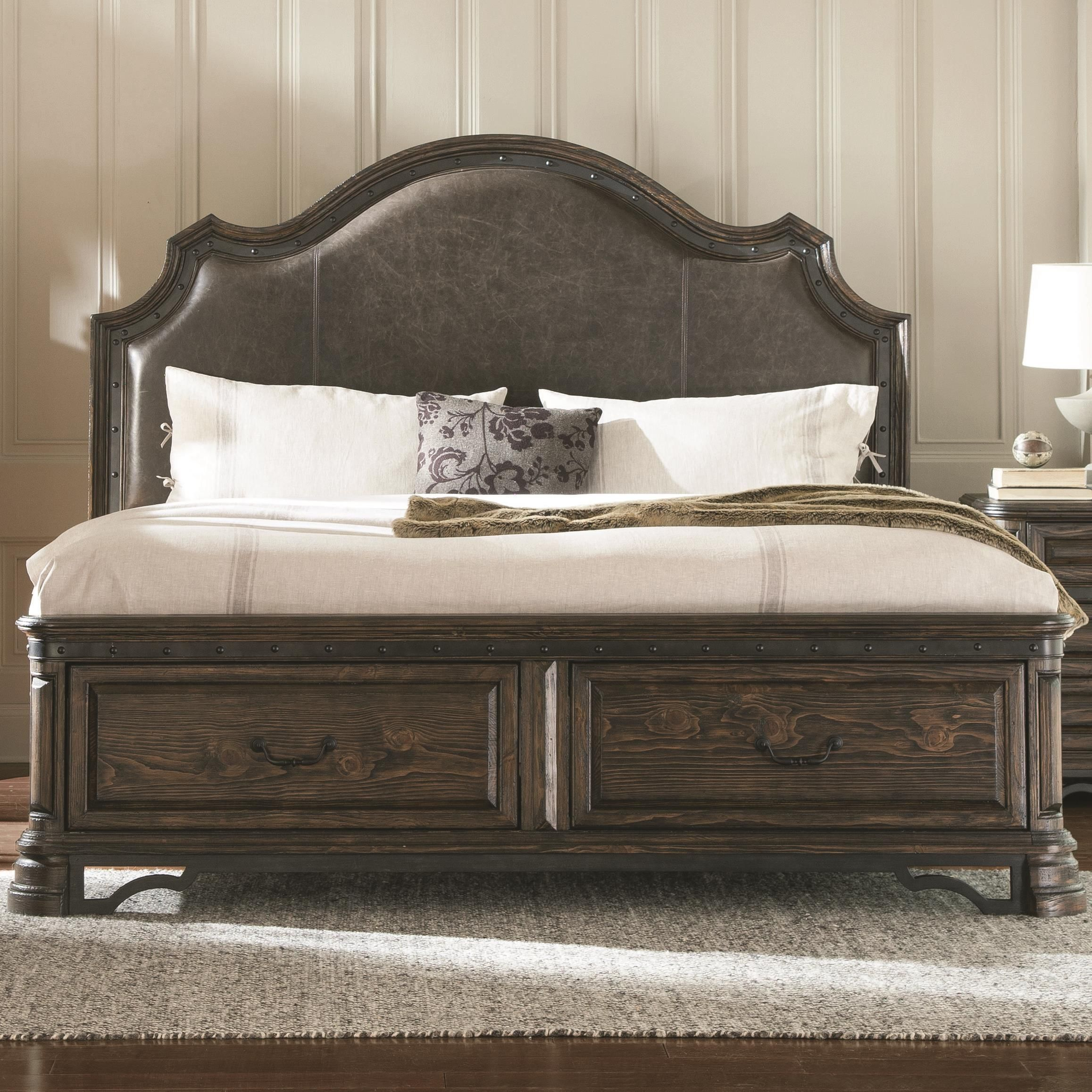 Carlsbad Queen Storage Bed with Upholstered Headboard