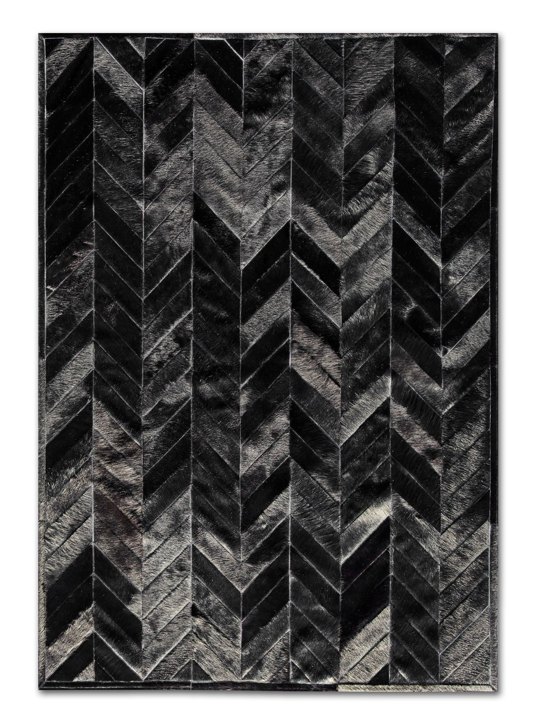 Black White Chevron Pattern With Images Patchwork Cowhide Rug