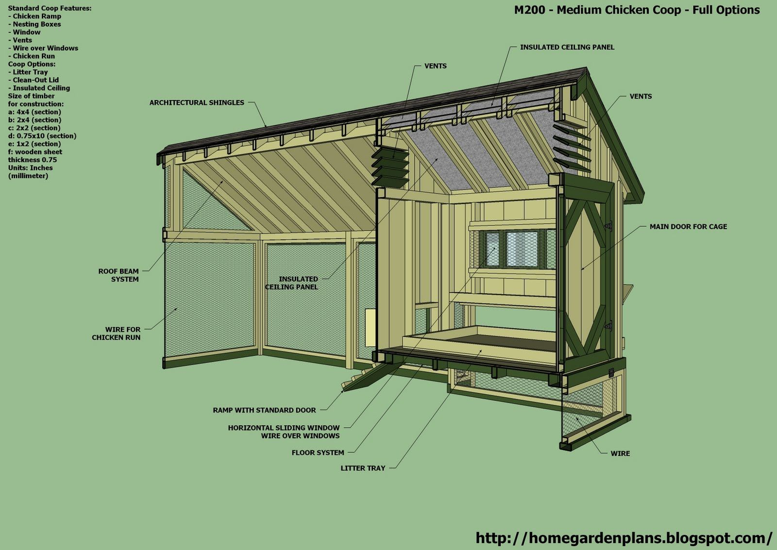 Home garden plans m200 perfect options backyard for Free coop plans