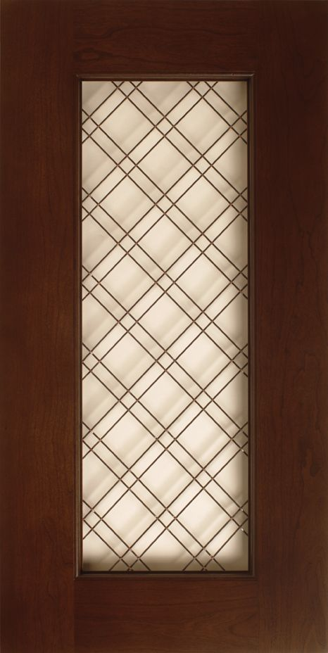 Gentil Wire Mesh Grille S618 Design In Natural / Standard Grade Cherry Wood With  English Oak Stain   Oil Rubbed Bronze Wire Mesh Grille Cabinet Door Style  ...