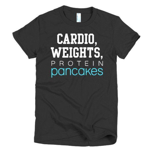 Short sleeve women's t-shirt Cardio Weights