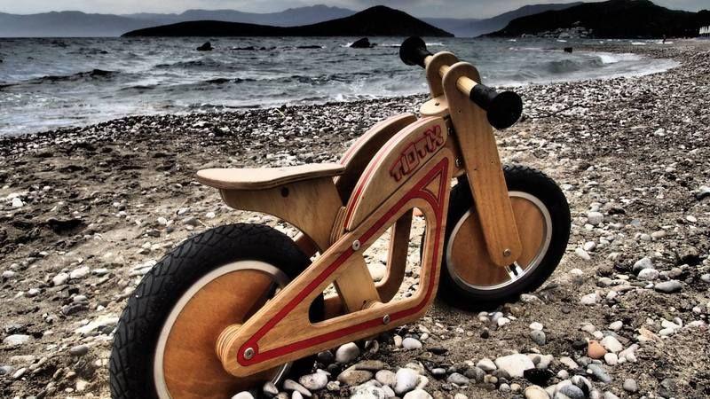 Wooden Balance Bike From Tiotix Photo By Polytimi Boznou Wooden