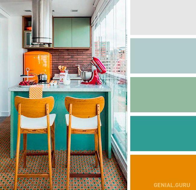 20 Perfectas Combinaciones De Colores Para Tu Cocina Decoracion De Cocina Colorida Colores Para Casas Colores De Interiores