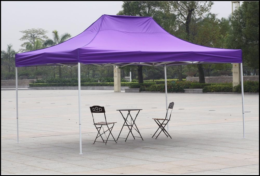 Outdoor Canopy Shelter Gazebo 10x15 Purple Patio Backyard Shade