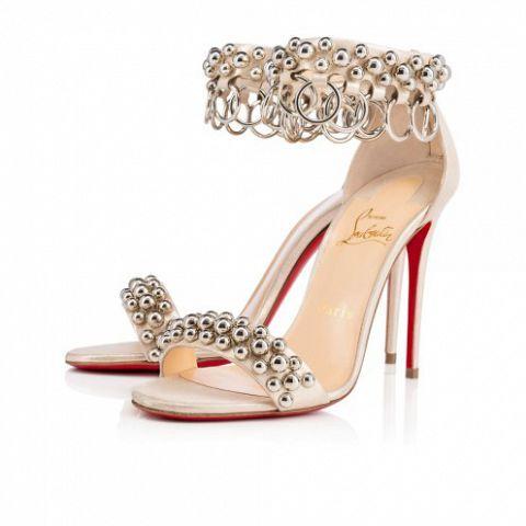 Shoes - Gypsandal Lame Poudre - Christian Louboutin