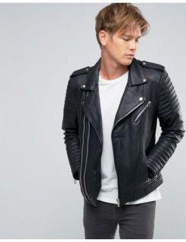 5485e10fd Goosecraft Leather Biker Jacket Asymmetric Zip in Black | Leather ...