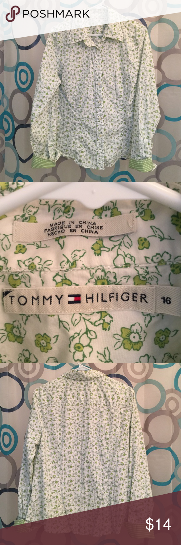 Tommy Hilfiger top button up long sleeve 16 Tommy Hilfiger top size 16 Tommy Hilfiger Tops
